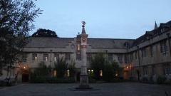 Oxford Corpus Christi Courtyard Timelapse Stock Footage