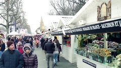 PARIS, FRANCE Steadicam shot of traditional Christmas and Stock Footage