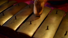 Playing javanese gamelan  - Peking Stock Footage