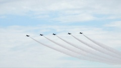 Blue Angels airplane acrobatic team display, USA Stock Footage