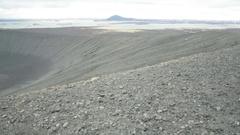 Volcano landscape Stock Footage
