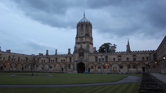 Oxford Christchurch Gate Timelapse Stock Footage