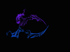 Abstract Fractal Blue and Purple Feathers Stock Footage