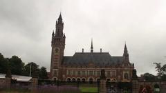 THE HAGUE, NETHERLANDS - JUNE 30, 2016 - Peace Palace- Built 1907 Stock Footage