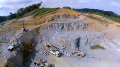 Mining and quarrying. Quarries for building stone production. Aerial footage Stock Footage