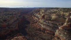 GRAND STAIRCASE ESCALANTE AERIAL FLYING OVER LANDSCAPE Stock Footage