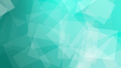 Animated geometric background in slow motion blue-green squares. Stock Footage