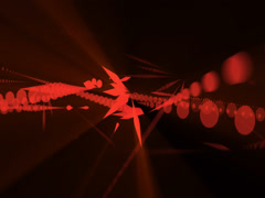 Abstract Strokes Red Stock Footage