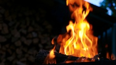 The fire that burns in the night Stock Footage
