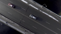 Traffic on the bridge, shoot from the air Stock Footage