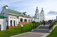 Cathedral of Descent of Holy Spirit, Minsk, Belarus Stock Photos