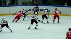 Hockey match in Vityaz Ice Palace Stock Footage