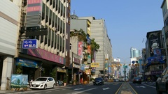 Traffic in the streets of Tainan Stock Footage