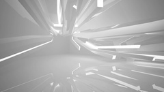 Abstract white interior of the future, with neon lighting. Stock Footage