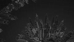 Tech City Dark Stock Footage