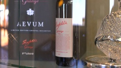 Australian premium winemaker, Penfolds, wine sales and tourist centre. Stock Footage