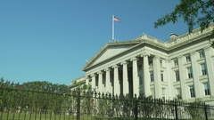 US Department of the Treasury Building Stock Footage