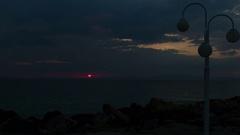 Time lapse of sunrise on aegean sea Stock Footage