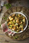 Homemade Roasted Jerusalem Artichoke Sunchokes Stock Photos