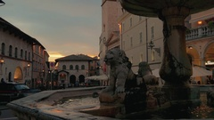 Italy, Assisi, the Umbrian city which was the birthplace of St. Francis Stock Footage