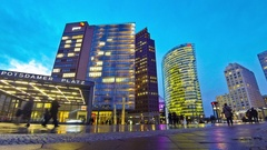 Potsdamer Platz - financial district of Berlin, Germany Stock Footage