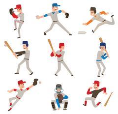Baseball player vector icon Piirros
