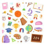 School icons vector Piirros