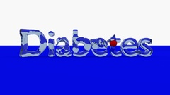 DIABETES word animation with waves generated with a red ball Stock Footage