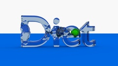 DIET word animation with waves generated with a green ball. Stock Footage