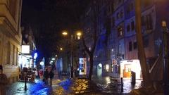 VIENNA, AUSTRIA Steadicam shot of tourists walking near Stock Footage