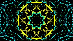 Kaleidoscopic shapes VJ loop Stock Footage
