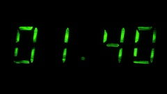 Digital clock shows time of 01 minutes 39 seconds to 02 minutes 09 seconds Stock Footage