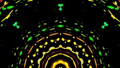 Center of stage kaleidoscopic vj loop Stock Footage