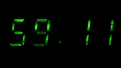 Digital clock shows the time of 59 minutes 10 seconds to 59 minutes 40 seconds Stock Footage