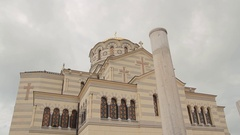 St. Vladimir's Cathedral. Chersonese. St Volodymyr's Cathedral. Stock Footage