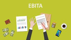 Counting EBITA Earnings Before Interest, Taxes, and Amortization illustration on Stock Illustration