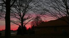 Missouri pink sky sunset Stock Footage