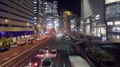 Umeda Osaka Business district at night Time lapse  Stock Footage