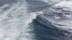 The wave  from a boat of  ocean Stock Footage