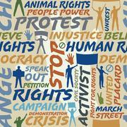 Protest seamless tile Stock Illustration