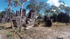 Lost sandstone city of Litchfield NP Stock Footage