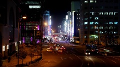 Umeda Osaka city traffic driving through city Time lapse  Stock Footage