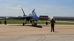 Blue Angels FA18 readying for takeoff Kuvituskuvat