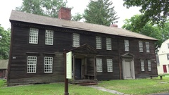 Barnard Tavern, Historic Deerfield, Franklin County, MA, United States. Stock Footage