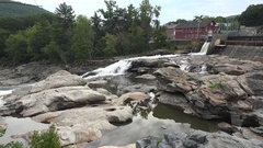 Glacial potholes, Deerfield River, Shelburne Falls, Ma. United States. Stock Footage