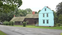 Wells-Thorn House, Historic Deerfield, Massachusetts, United States. Stock Footage