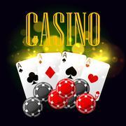 Casino poker vector poster design Stock Illustration