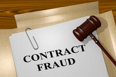 Contract Fraud - legal concept Stock Illustration