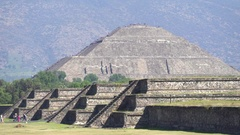 Teotihuacan sun pyramid - Mexico City Stock Footage
