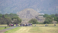 Teotihuacan moon pyramid - Mexico City Stock Footage